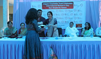 Ms.Wricha receiving Nari Shakti Award
